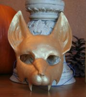 Gold Fanged Fox Mask by nondecaf