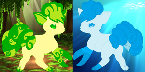 A Earth and Water  Vulpixs for Adopting(Open) by AwesomeSachiko1