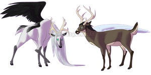 Seph and Angeal deer by ArosFair