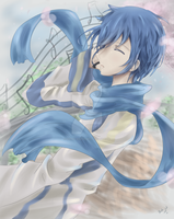 ~Vocaloid artbook entry: Kaito by artsy-akalei