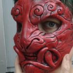 Red lacquer mask by missmonster