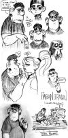 Paranorman Sketchdump by mr-book-faced