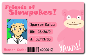 Friends of Slowpokes: Sparrow Kaizu by Sparrow-Kaizu