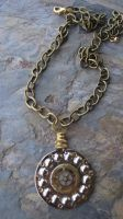 Golden Dial Steampunk Necklace by PunkTrunk