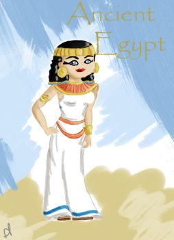 45- through time and space :ancient egypt by pheebsdoodles