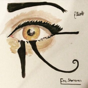 Eye Of Horus Watercolour by Epic-sketches