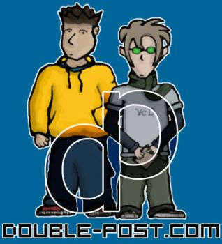 DoublePost with logo by bitmap