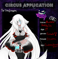 The Black Circus, Aurora Noolami by RottenAlice