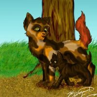 Redtail and Dustpaw by Sun-wing