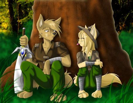Mhira y Hakim by Vermillon-Loup