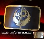 Fallout Brotherhood of steel belt buckle by TimforShade