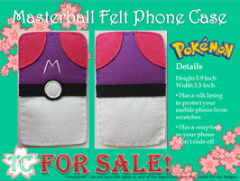 Masterball Felt Phone Case by TealCreations
