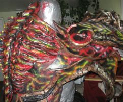 Painting of the back torso by FoamFusion