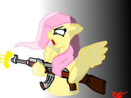 Fluttershy Mad. by CrimsonEmerald