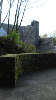 mossy wall and cottage stock 0 by Liddell-Stock