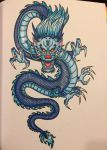 Blue Traditional Dragon by TallyBaby13