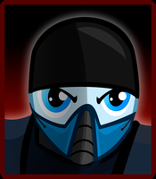 Sub-Zero Pony Select Screen Icon by Kyute-Kitsune