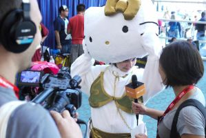 Hello Kitty Slave Leia version by makepictures
