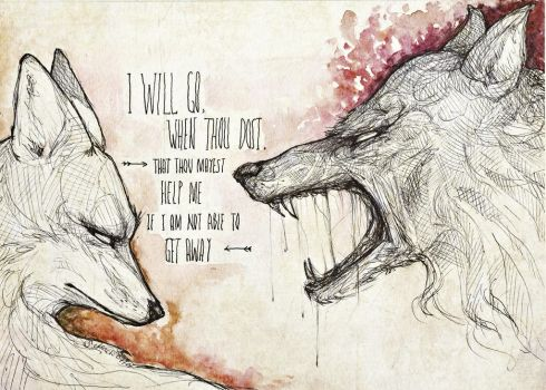 The Wolf And The Fox by raskina