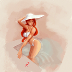 Lady in the Water Paint Practice by Cassidy-Morgan