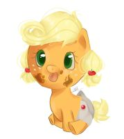 Baby AppleJack by StrawBerryAngel937