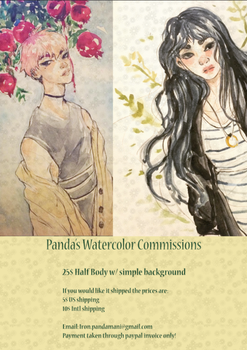 Watercolor Commissions open by Pandamani