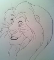 Mufasa from The Lion King by LovingDrawings