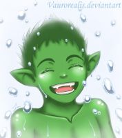 Beastboy Water Fight by Vaurorealis