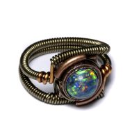 Steampunk opal ring by CatherinetteRings