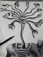 Tongue Tree (Ballpoint Pen) by qaimnaqvi