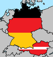 Germany Austria Flag Maps by LtAngemon