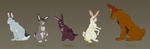 Watership Down OC Lineup 2 by Demonic-Pokeyfruit