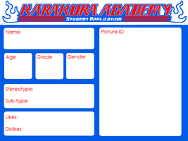 Karakura Academy - Student Application by amber-sky
