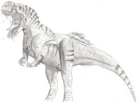 T-Rex Sketch by Igglebock