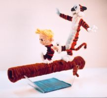 Pipe Cleaner Calvin n Hobbes2 by fuzzymutt