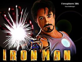 Iron Man-Digital Painting by Firesphere306