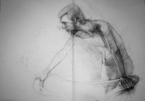 Charcoal on paper 2 by sebtuch