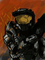 Master chief by superjetjohn117