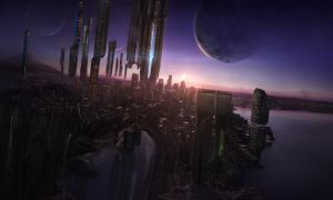 Futuristic city by Crystalshock