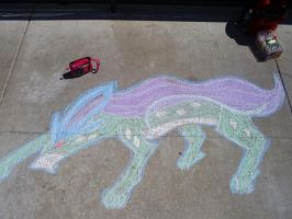 Chalk Suicune by EgyptianMyth