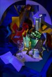 Guitar and mandoline (Tribute to Juan Gris) by Ultramelodic