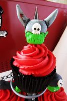 Warhammer 40K cupcakes by I-am-Ginger-Pops