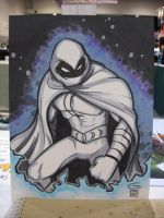 SDCC Sketch: Moon Knight by grantgoboom