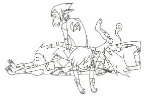 Dogpile on Acey -lines- by Fathix