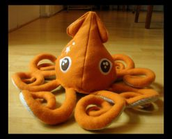 Orange Squid Plush 1 g by TheCurseofRainbow