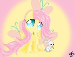 Fluttershy Filly by KinkiePied