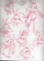 Sketches a la Kazooie by Nintendo-Nut1