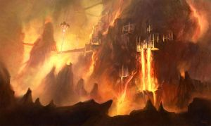 Muspelheim Scenic Spot by Nightblue-art
