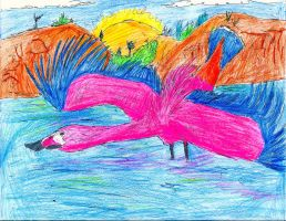 The Flamingo-Duck by RajaHarimau98