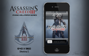 AC3 iPhone Retina Wallpaper - Connor by tazerguy
